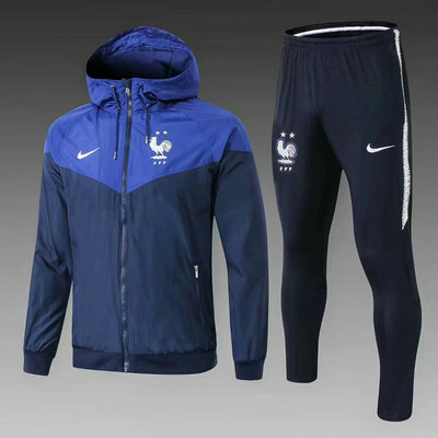 Veste de foot France bleu marine 2018 2019