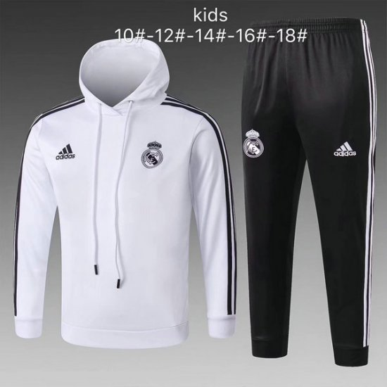Maillot Formation ML Enfant Real Madrid Blanc-01 2018 2019