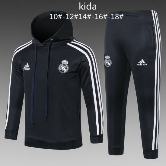 Maillot Formation ML Enfant Real Madrid Noir-02 2018 2019