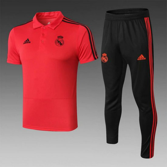 Maillot Polo Real Madrid Rouge 2019 2020