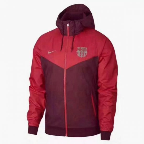 Veste de foot Barcelone Rouge-03 2018 2019