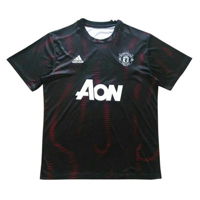 Maillot Formation Manchester United Noir-01 2018 2019