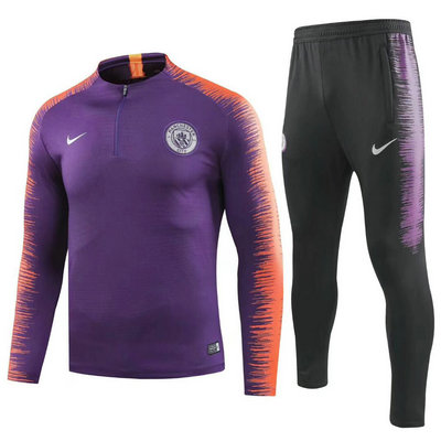 Maillot Formation ML Manchester City Pourpre 2018 2019