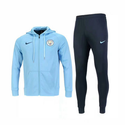 Veste de foot Manchester City Bleu-01 2018 2019