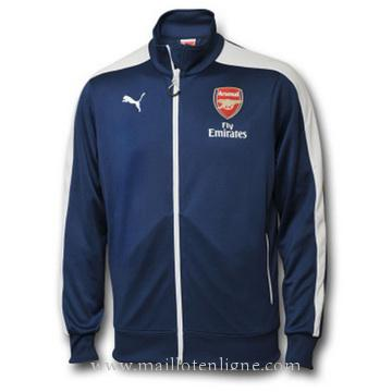 Veste de foot Arsenal 2014 2015 Bleu marine