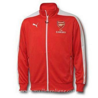Veste de foot Arsenal 2014 2015 Rouge