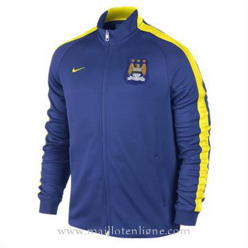 Veste de foot Manchester City 2014 2015 Bleu