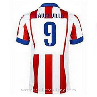 Maillot Atletico de Madrid DAVID VILLA Domicile 2014 2015