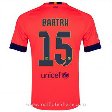Maillot Barcelone Bartra Exterieur 2014 2015