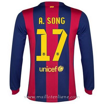 Maillot Barcelone Manche Longue A.Song Domicile 2014 2015
