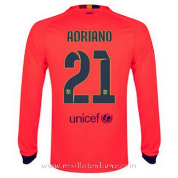 Maillot Barcelone Manche Longue Adriano Exterieur 2014 2015
