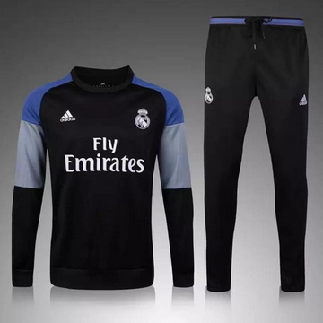 Maillot Formation ML Real Madrid Noir 2016