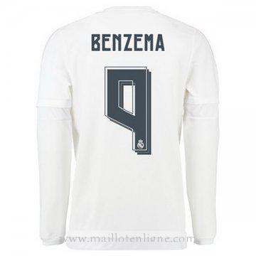 Maillot Real Madrid Manche Longue BENZEMA Domicile 2015 2016