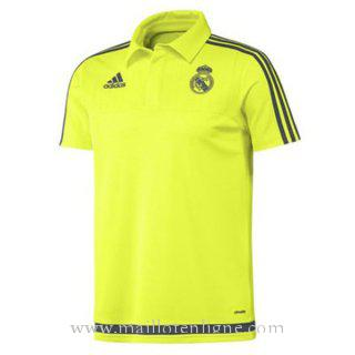 Maillot Real Madrid polo Jaune 2016 2017