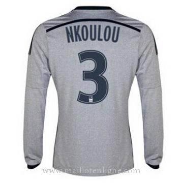Maillot Marseille ML NKOULOU Exterieur 2014 2015