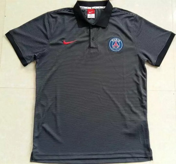 Maillot PSG Polo Rayures Grises 2016 2017