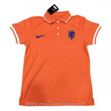 Maillot Hollande polo Orange 2016 2017